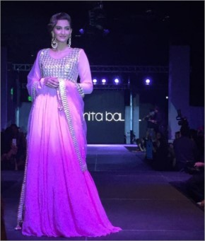 Sonam Kapoor showstopper for designer Amita Bal fashion show