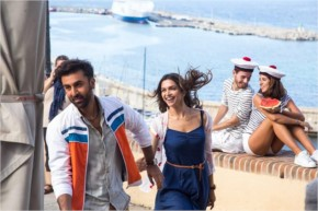 Deepika Padukone and Ranbir Kapoor from the sets of Tamasha.