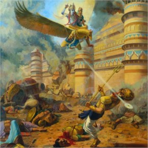 3. Krishna Killed Narakaasur:
