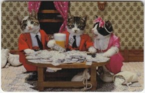 5. Cats having a beer party