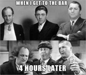 5. Three Stooges Go To The Bar - Funny Pictures with Caption