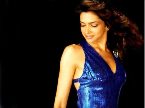 Deepika beautiful and sexy in blue dress