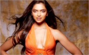 deepika  looks sexy in  orange dress