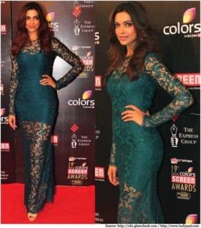 Deepika Padukone appeared on the awards