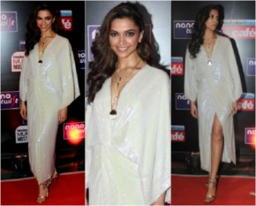 Deepika Padukone Cool Look with bumpy Hairstyle