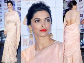 Deepika Padukone Dressed traditional for Diwali