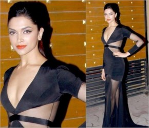 Deepika Padukone in Black Cat Eye liner dressed amazing