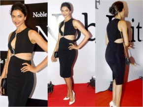 Deepika Padukone in Black looking Awesome