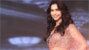 Deepika padukone in saree with awsome smile