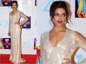 Deepika Padukone looks beautiful in silver white Gown