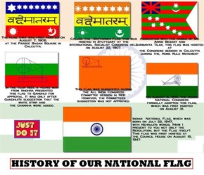 Evolution of the tricolour India National Flag amazing fact