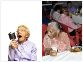 Funny Grandma playing music to overcome her profession as hobby where in Indian funny Grandma taking Shots of buttermilk.