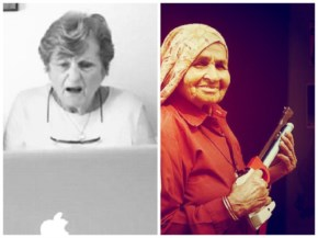 Funny Grandma uploading photos on Facebook where as Indian Grandma ready to offer a shot