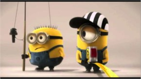 Funny Minions catching fish
