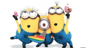 Funny Minions preparing for the shoot