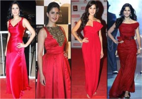 Gorgeous katrina kaif  with red dresses like angle