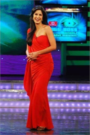hot ieee katrina kaif with red dress at a program to promote her film