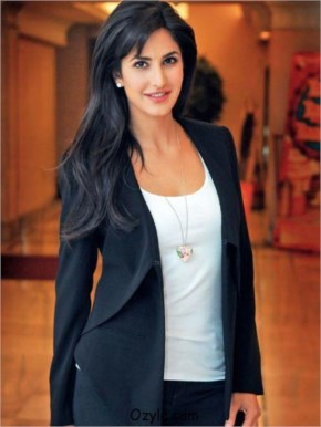 Katrina kaif in black party wear at a promotional photo shoot