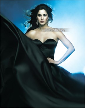 Katrina kaif in black saree looks awesome at a jewellery promotional photo shoot