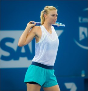 Maria Sharapova is looking stylish as usual at the 2014 Sony Open Tennis