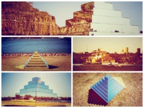 Mirror ziggurat joined heaven and earth in Sydney