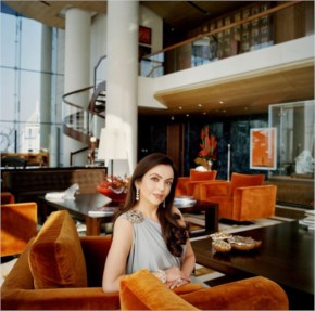 Mukesh Ambani house Antila Living room with wife Nita Ambani