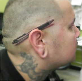 Pretty funny tattoo idea. Wonder how long it will stay funny…