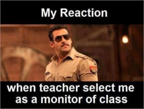 Reaction of students when teacher select him as class captain