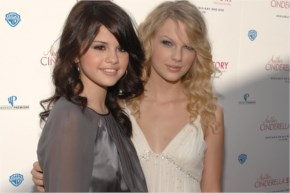 selena Gomez and Taylor Swift at a promotional event