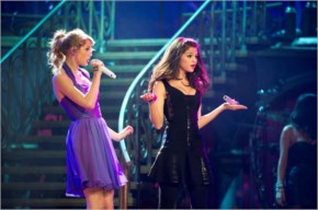 selena Gomez and Taylor Swift at live performance at billboard music awards las vegas