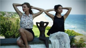 selena Gomez  and Taylor Swift  in awesome unique pose
