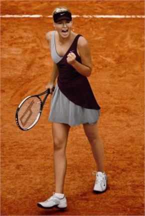Sharapova made the quarterfinals of the French Open, her best Grand Slam performance of 2009
