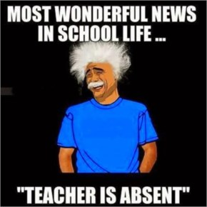 Teacher is absent