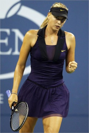 Tennis babe Maria Sharapova brought fashion to the tennis court in her inspired dress