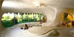 View from inside of the creative shell designed