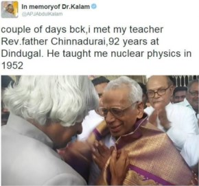 When he could still remember his school teacher even after 64 years