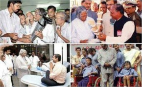 When he created artificial limbs for the differently abled children and distributed to them