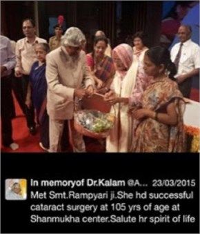 When he saluted the 105-year-old lady for her successful surgery