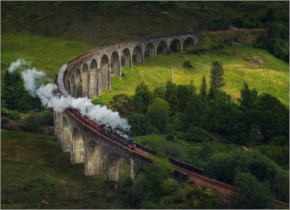 15 Reasons Why Scotland Must Be On Your Bucket- 2  The West Highland Line Train Passing The Glenfinnan Viaduct