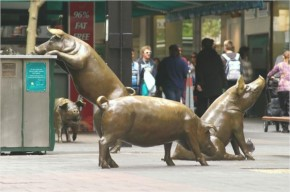 24. Rundle Mall Pigs, Adelaide, Australia