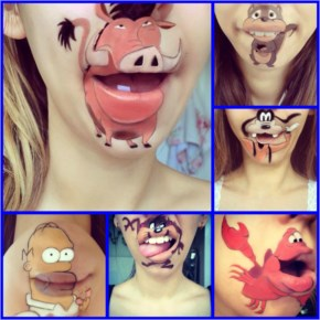 25 Funny Disney Lip-Art Painting