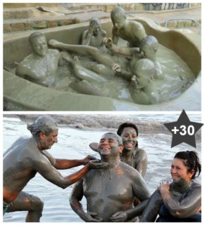30+ Pictures of Hot Mud Bath in Dead Sea