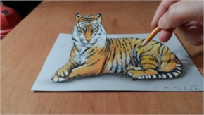 3D Amazing art work of Tiger