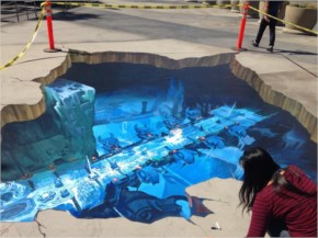 3D Street Painting - Murals - Chalk Art for Events