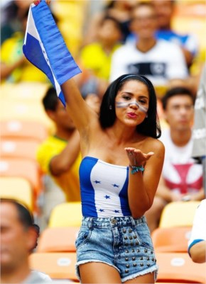 Teams with their hottest fans  in  Fifa World Cup Brazil 2014