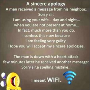 A Small spelling mistake can cause heart attack.. read  How - Very Funny