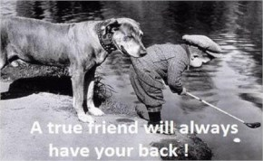 A true friend Will Always have your back! | Friendship