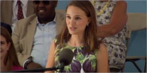 Actress Natalie Portman | an audience during Class Day of Harvard College's