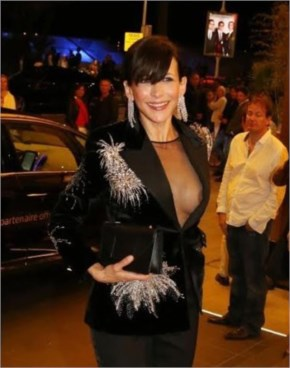 After her panties, Sophie Marceau shows her nipple, 2015 Cannes Film Festival