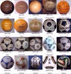 All FIFA World Cup Balls.. 1930 - 2014 Football